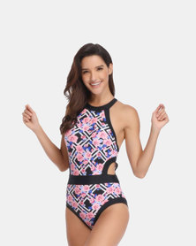 Iconix One piece Swimsuit - Floral Printed