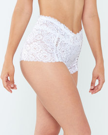 Yarin Amram Luna Criss-cross Underwear White