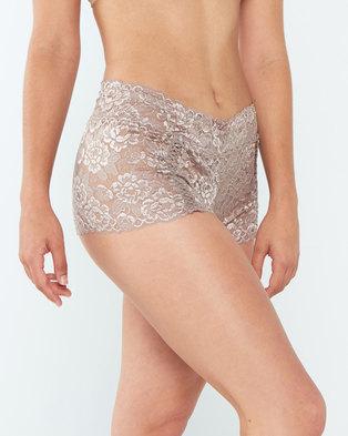 Yarin Amram Luna Criss-cross Underwear Rosewood