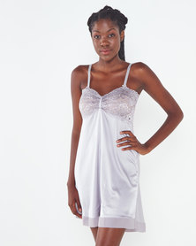 Yarin Amram Camille Short Satin Nightie Grey