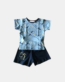 Cotton Club Dinosaur Summer Pyjamas Set