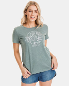 Roxy Neon Palm Africa T-Shirt Trooper