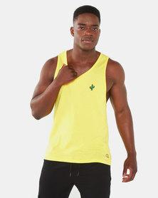 Brave Soul Cacti Vest Yellow