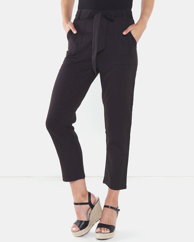 Brave Soul Trousers With Belt Black