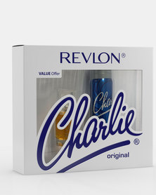 Revlon Charlie Original Pamper Pack 30 ml Eau De Toilette/90 ml PBS