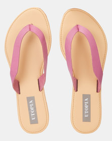 Utopia Leather Thong Sandal Pink