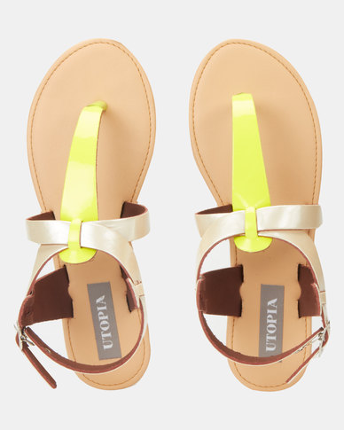 Utopia Neon Thong Sandal Yellow