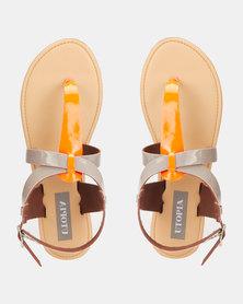 Utopia Neon Thong Sandal Orange
