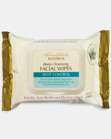 African Extracts Cleansing Facial Wipes Spot Control 25s
