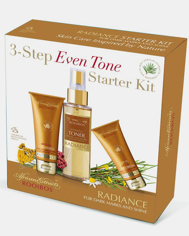African Extracts Radiance 3-Step Even Tone Starter Kit 1ea