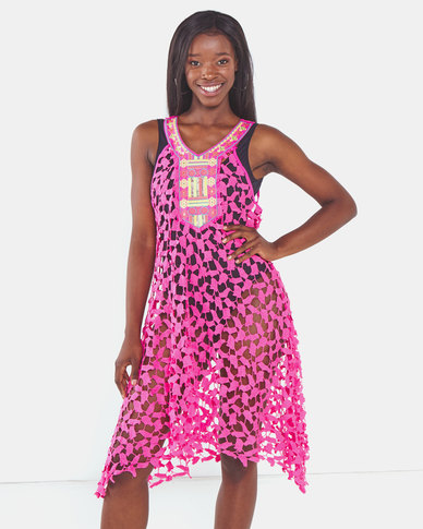 UB Creative Lace Overdress Pink