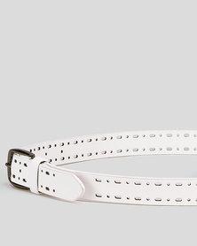 UB Creative Jeans Belt White