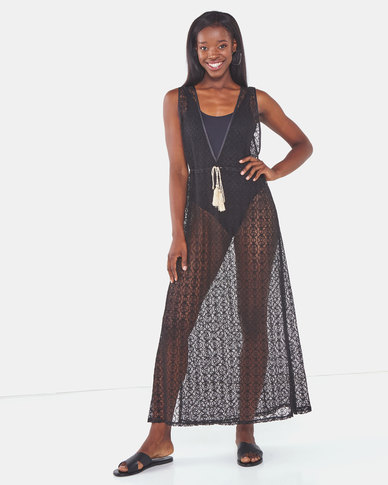 Talooshka Lace Over Dress Black
