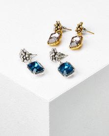 Queenspark 2 Pack Antique Drop Earrings Multicoloured