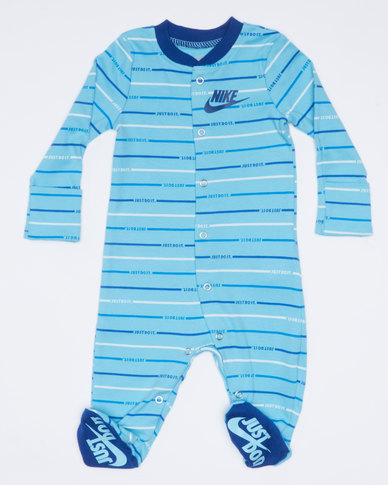 Nike NKB JDI Stripe Footed Coverall Blue Gaze