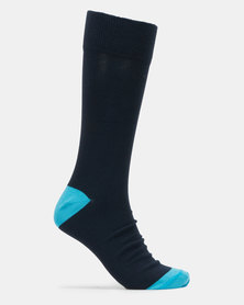 JCrew Heel & Toe Design 3 Pack Socks Multi