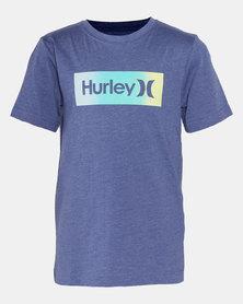 Hurley HRLB Box Gradient Tee Delft Heather Blue