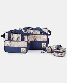 HappyDeals- 5 in 1 Baby Carrier Bag Set- Navy