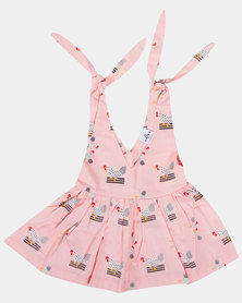 Kapas Chickens Lilly Dress Pink
