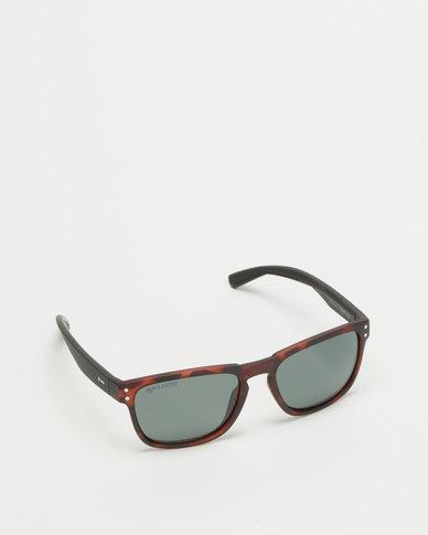Dot Dash Bootleg Polarized Sunglasses Dark Tort Black Satin/Vintage Grey