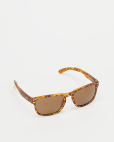 Dot Dash Bootleg Sunglasses Tort Satin/Bronze