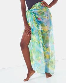 Talooshka Silk Sarong Cover-up Green/Blue