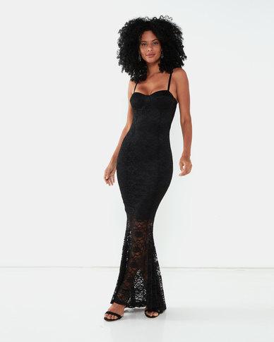 Sissy Boy She's Pure Lace Maxi Dress Black