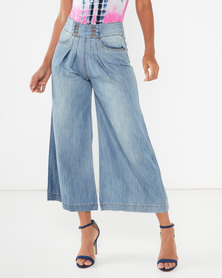 Utopia Wide Leg Jeans Light Wash