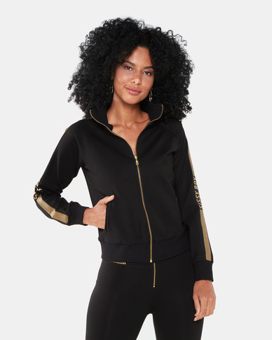 Sissy Boy Sporty Jacket Black/Gold
