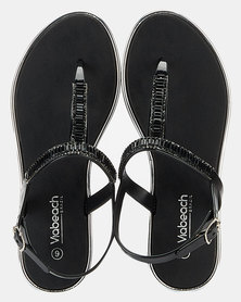 Via Beach Cadence Jewel Thong Sandal Black