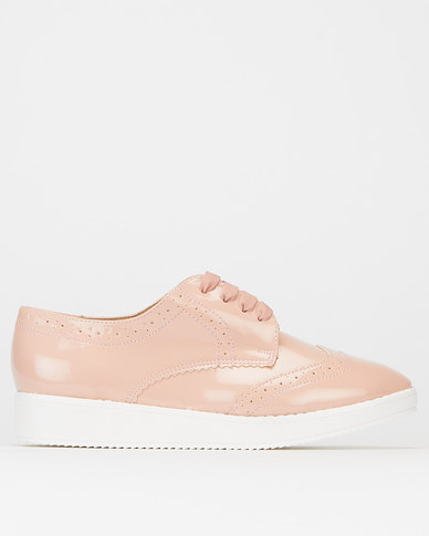 Legit Flatform Brogue Lace Up Blush
