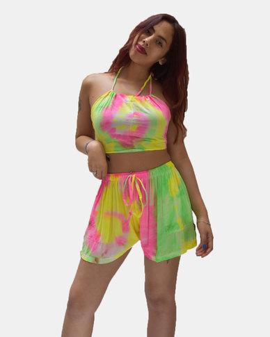 SKA Pastel Tie Dye Shorts Luminous