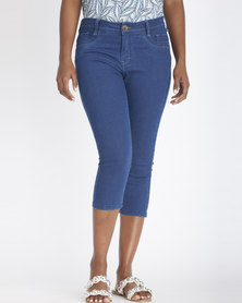 Contempo Denim Capri Blue