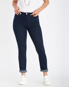 Contempo Slim Mid Rise Jeans  Indigo
