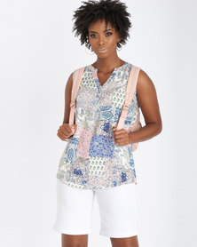 Contempo Printed Sleeveless Top Multi