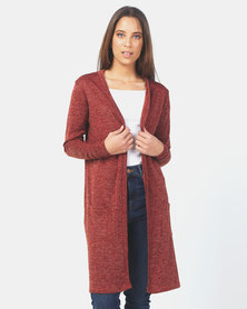 JanaS Bianca cardigan Long in Rust