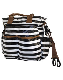 Fino Baby Nappy Bag - Black & White