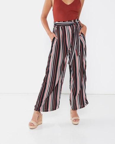 Revenge Multi Striped Trousers Black
