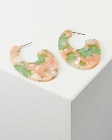 You & I Vacay Drop Earrings Orange