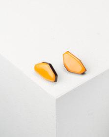 You & I Stud Earrings Orange