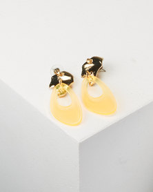 You & I Lumo Drop Earrings Orange