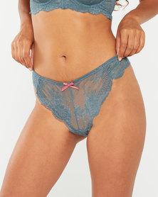 Legit Lace 2PK G String Pink/Grey Multi