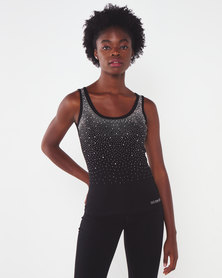 Sissy Boy Riline Bling Logo Vest Black