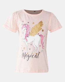 Utopia Migical Unicorn Tee Pink
