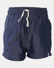 Jeep Denim Twill Shorts Blue