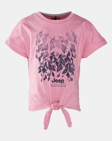 Jeep Tie Top Pink