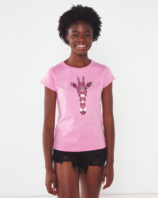 Lizzy Gio Tee Pink