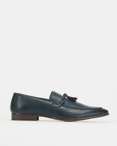 Utopia Tab and Tassel Loafers Navy
