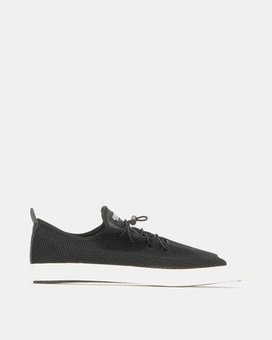 Utopia Knit Toe Cap Sneakers Black/White
