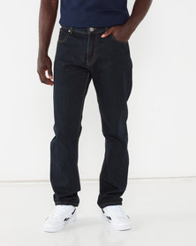 Lee Cooper Ace Straight Leg Denim Jeans Blue/Black